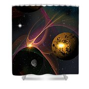 Betwixt 2 And 4 Shower Curtain