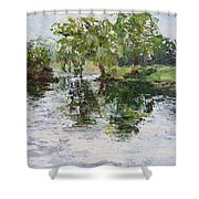 Bevier Park In The Rain Shower Curtain