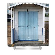 Bexhill Beach Hut Shower Curtain