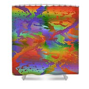 Beyond The Albatross Rainbow Shower Curtain