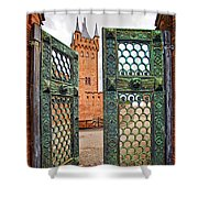 Beyond The Courtyard Gate Shower Curtain