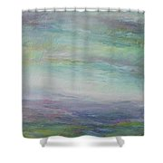 Beyond The Distant Hills Shower Curtain