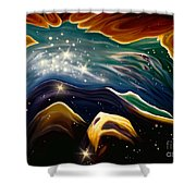 Beyond The Furthest Point Shower Curtain