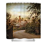 Beyond The Gates Shower Curtain by Jessica Jenney