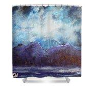 Beyond The Purple Hills Shower Curtain