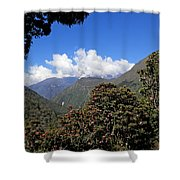 Beyond The Rhododendrons Shower Curtain