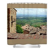 Beyond The Rooftops 1 Shower Curtain