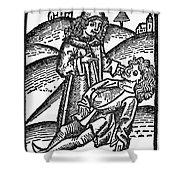 Bezoar Stone, 1491 Shower Curtain