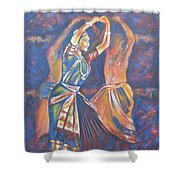 Bharatha Naatayam 3 Shower Curtain