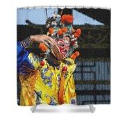 Bian Jiang Dancer  Pastel Chalk Shower Curtain