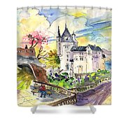 Biarritz 01 Shower Curtain