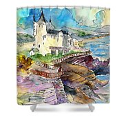 Biarritz 02 Shower Curtain