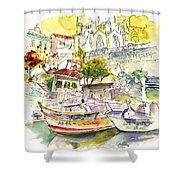 Biarritz 11 Shower Curtain