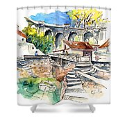 Biarritz 18 Shower Curtain