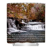 Bible Verse And Inspirational Greeting Card Autumn Fine Art Photography Prints And Posters. Shower Curtain