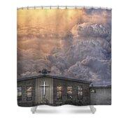 Biblical Sunset Shower Curtain