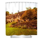 Bibury Almhouses Shower Curtain