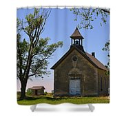 Bichet School In Marion County In Kansas Shower Curtain