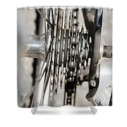 Bicycle Cassette Shower Curtain