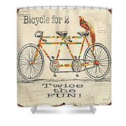 Bicycle For 2 Shower Curtain