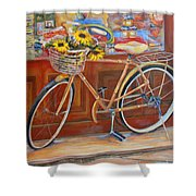 Bicycle In Cortona Shower Curtain