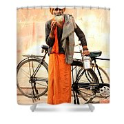 Bicycle Man Shower Curtain