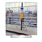 Bicycle Memorial Shower Curtain
