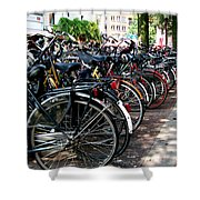Bicycle Parking Lot Shower Curtain