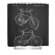 Bicycle Patent Shower Curtain