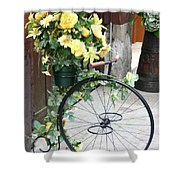 Bicycle Plant Holder Shower Curtain
