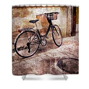 Bicycle Revisited Shower Curtain