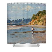 Bicycle Ride On Beach Shower Curtain