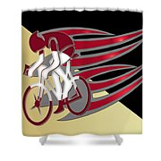 Bicycle Rider 01 Shower Curtain