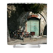 Bicycle Stop Shower Curtain