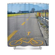 Bicycle Symbol Shower Curtain