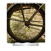 Bicycle Tire Shower Curtain