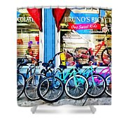 Bicycles And Chocolate Shower Curtain