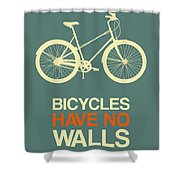 Bicycles Have No Walls Poster 3 Shower Curtain
