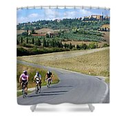 Bicycling In Tuscany Shower Curtain