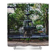 Bienville Square Fountain Closeup Shower Curtain