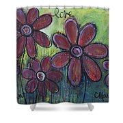 Big And Bright Daisies Shower Curtain