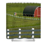 Big Barn Little Companion  Shower Curtain