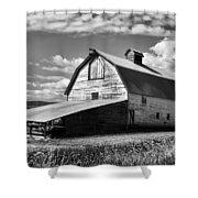 Big Barn Near Ellensburg Washington 2 Shower Curtain