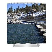 Big Bear Dam - California Shower Curtain