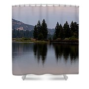 Big Bear Lake Shower Curtain