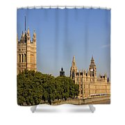 Big Ben And The Houses Of Parliament In London England Shower Curtain