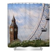Big Ben And The London Eye Shower Curtain