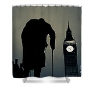 Big Ben And Winston Churchill  Shower Curtain