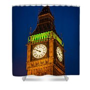 Big Ben At Night Shower Curtain