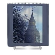 A Surreal Vision Of Big Ben, London Shower Curtain